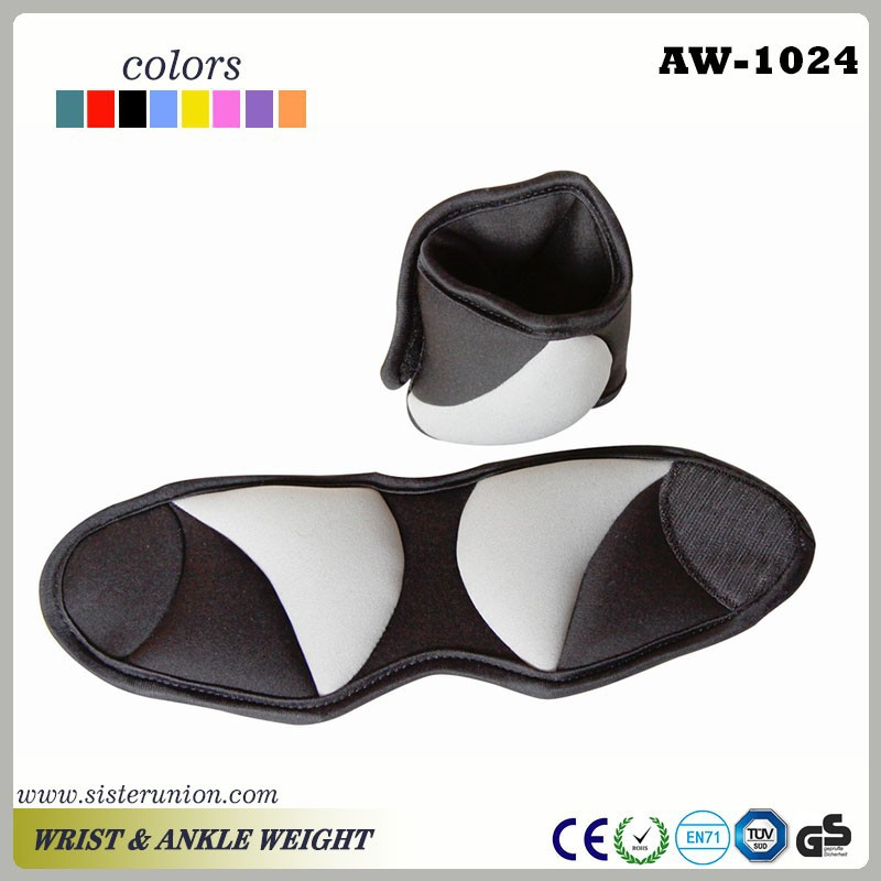 Ankle Weights Black Black Pair of Ankle Weights