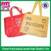 laminated surface eco silk screen print non woven shopping bag