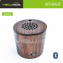 VM-BT232 portable microphone speaker retro bluetooth speaker wooden/bamboo