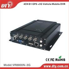 DTY VR8800 4ch D1/channel h.264 RJ45 hard disk car dvr recorder hdd