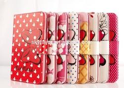 Cartoon leather case Cute Mickey Minnie bowknot cover For iPad Mini 1 Mini 2 factory sell