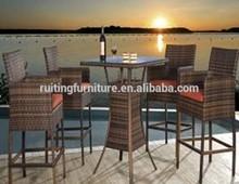 RT-5001 Outdoor patio rattan bar stools