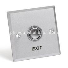 Aluminium alloy Metal Silvery Emergency exit push button