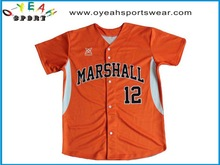 popular baseball jersey/ wholesale baseball jersey /wear free design made in China