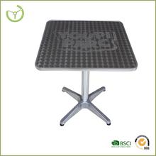 Mesa de café / aluminio tubular altar mesa cuadrada HL-T-07-010
