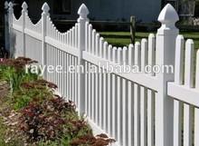 100% New White Plastic Garden Fence Panels/ PVC valla de jardin,cerca do cavalo