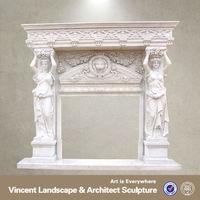 white corner electric fireplace VFM-NA047A