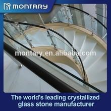 nano crystal white glass stairs interior