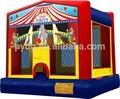 Praça de circo inflável jumpers, inflável salto da lua