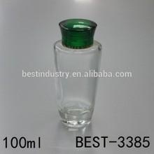 100ml aluminum caps cosmetic bottles, cosmetic glass bottles for perfume, empty perfume glass bottles