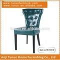 De color azul oscuro en condiciones de servidumbre de cuero silla de comedor, de madera de lujo de diseño de la silla tb-7451b