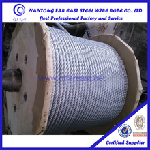 Nantong 6 x12+7FC steel wire rope galvanized for press machine