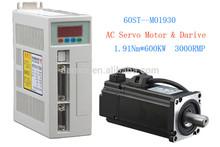 60ST-M01930 AC Servo Motor 1.91N.M 600W 3000RPM 60ST with Driver System