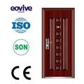 Fer forgé porte extérieure avec hublot e-st048