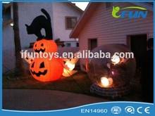 inflatable led pumpkin/lighting inflatable pumpkin/inflatable pumpkin for festive party