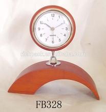 Antique quartz wooden desk clock