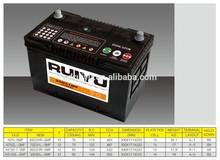 korea quality 12V75ah lead acid sealed maintenance free automotive battery car battery truck battery