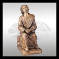 de haute qualité chinois vierge marie et jesus sculpture en bronze