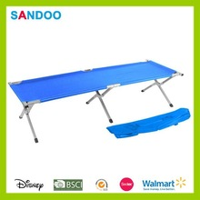 Portable high quality polyester colorful foldable lightweight camping bed hot China product for 2015