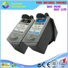 pg-40 cl-41 high quality ink cartridge compatible canon pixma ip1200 ink cartridge