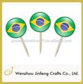 Palito com bandeira de vários países de bandeira palito de madeira decorativa/bambu palito bandeira