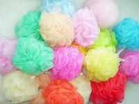 Popular Bath/Shower Wash Body Exfoliate Puff Sponge Mesh Net Ball soft bath flower soft bath sponge new