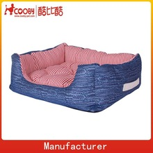 Canvas and denim animal dog kennel