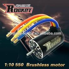 Rocket 1:10 1:8 0 Scale 4-Pole 550 Sensorless 2350KV rc brushless motor for car