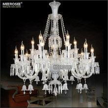 Nuova e chiara grande 15 armi lampadario di cristallo, avorio villa, hotel lampada md2397 l15