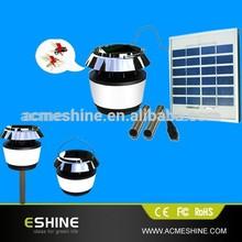 Led Solar Garden Bug Zapper Pest Mosquito Killer Lamp Stainless Steel Uv + White LED Light - Lawn Lights