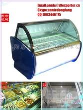 Ice Cream Display Cabinet/glass food display cabinet /clear glass display cabinet