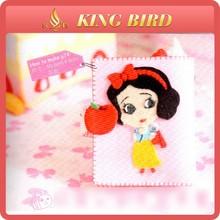Snow White card bag printed felt fabric for lovely girl