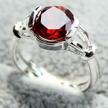 Classical garnet stone Promotional Ring with yiwu sunshine trade