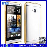 2014 hot sale LOVE MEI 0.6mm Metal Bumper Case for HTC New One M7(Gold)