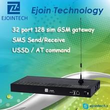 Hot Sale GoIP gateway!! Ejointech anti sim blocking GSM sip gateway with 32 port 128 sim 4 sim card phone