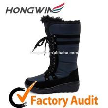 Manufactory dark blue women warm platform boots