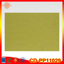 Bright grass green color pvc coated polyester placemat fashion style pvc placemat