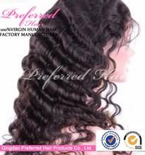 100% human virgin peruvian hair machine wig
