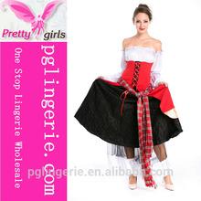 Innovation strapless splice three layers princess dress
