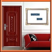 new designed door frame metal detector price/flat exterior door/plain steel door