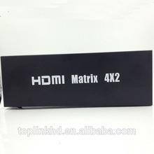 TOP-MATRIX4x2A High Speed 1.4V HDMI matrix 4X2 Manufacturer from China