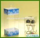 Custom transparent hard pvc folding small clear plastic box