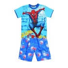 Hot Selling Summer Boy short sleeve Spider kids Suit Children Sets Baby T-shirt + Short Pants Kids Clothing Sets 100% Cotton