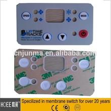 China custom printing design 3M adhesive polyester/polycarbonate label electronics