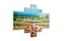 digital oil garden painting photo canvas prints