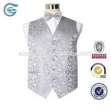 Fashion Silver Style Wedding Men new design waistcoat