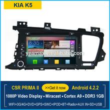 KIA Car DVD player with GPS Navigation Android 4.2 1080P video miracast Bluetooth WIFI 3G radio