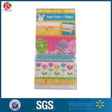 "54""*108"" Easter spring eggs plastic table cover-1 package"
