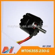 Maytech brushless dc motor rc 6355 230 KV for remote control professional aeroplane