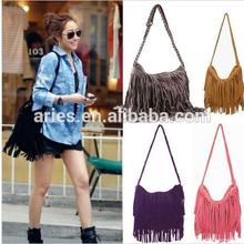 2014 New Fashion One Shoulder Bag + Vintage Tassel Cross Popular Casual Women Handbag Women Messenger Bags